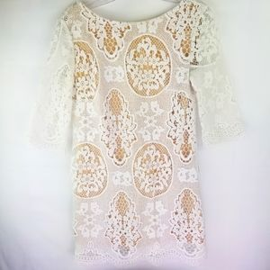 Aakash Off White Tunic Top. Size S